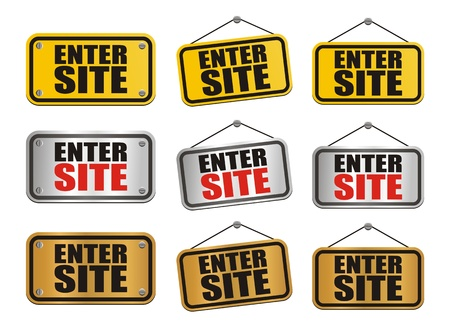 enter site signs Stock Vector - 21849035