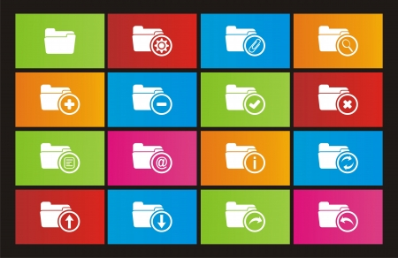 windows 8: folder icons - metro style icons