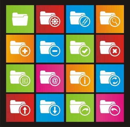 folder metro style icons Vector