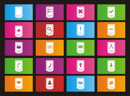 windows 8: smart phone metro style icons