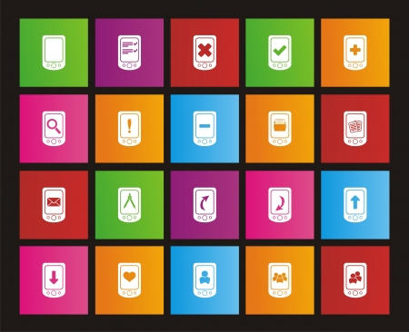 windows 8: smart phone icons - metro style icons