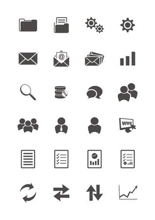 blog icon sets Stock Vector - 21848950