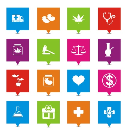 medical marijuana square pointers Vector