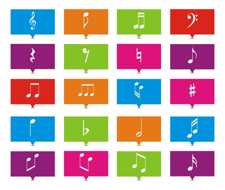 music note rectangle pointers Stock Vector - 21929466