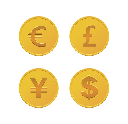 eur: currency coins - gold