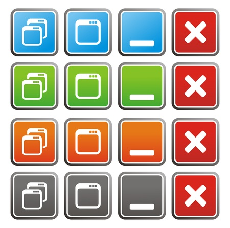maximize: maximize minimize square buttons Illustration
