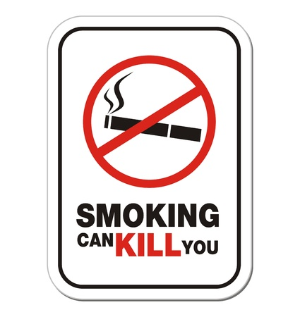 smoking can kill you - warning sign Vector