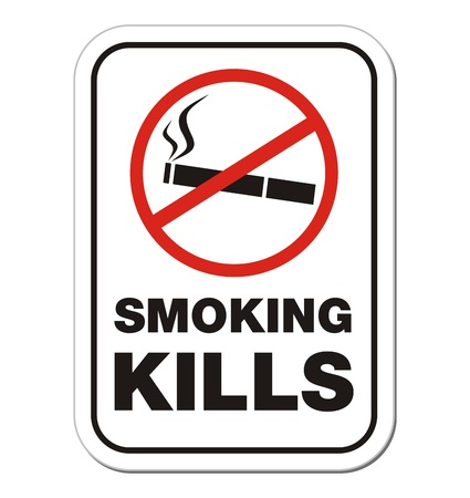 smoking kill - warning sign Vector