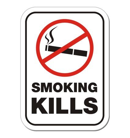 smoking kill - warning sign