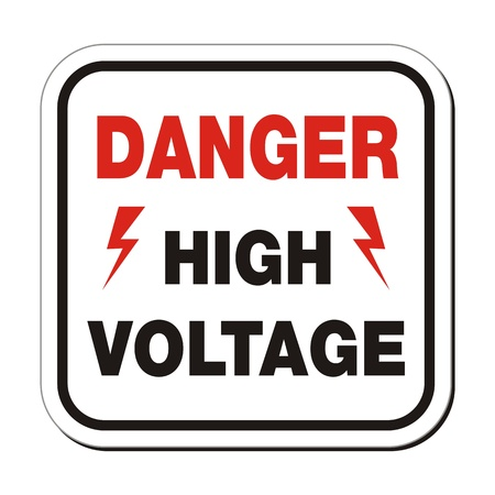 high voltage sign: danger high voltage - sefety sign Illustration