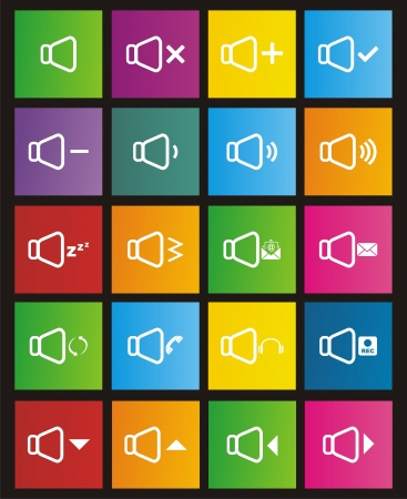 sound icon sets - metro style Vector