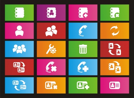 windows 8: contact metro style icon sets Illustration