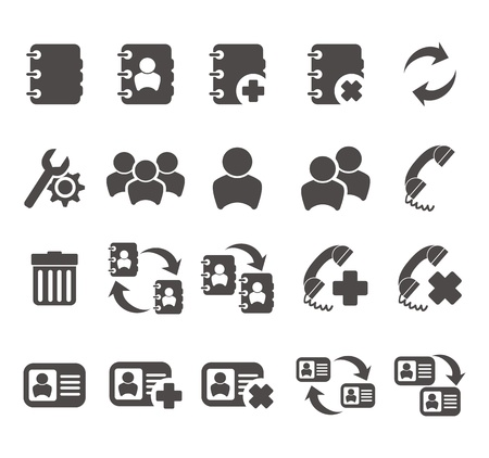 favorite: contact - mobile phone icon sets