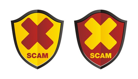 scam shield Stock Vector - 22261823
