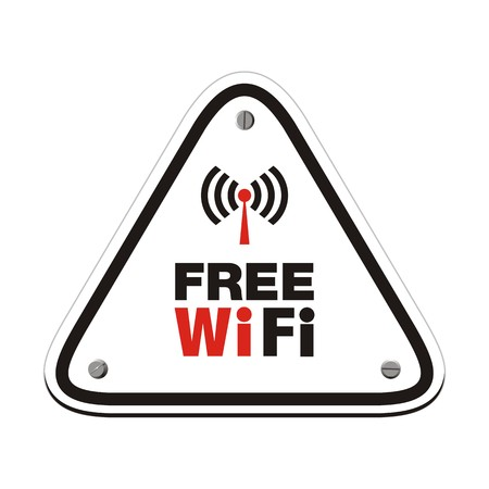 wi fi icon: free wifi - white triangle