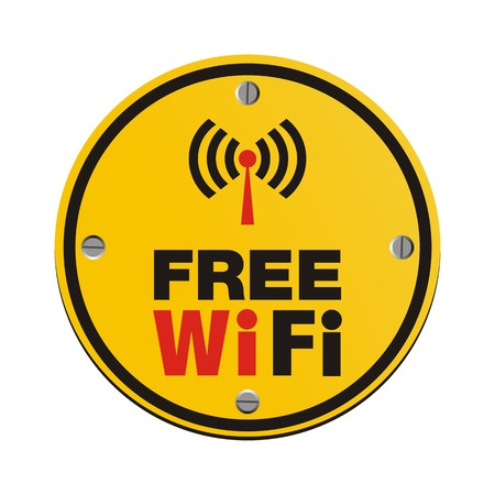 wi fi icon: free wi fi circle sign Illustration