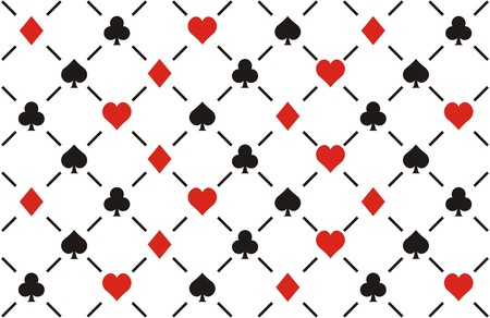 clubs , diamonds , hearts and spades seamless pattern Vector