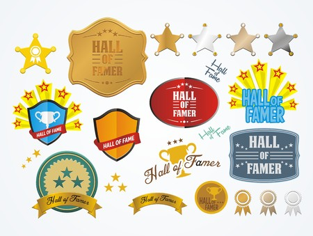 hall: hall of fame badges