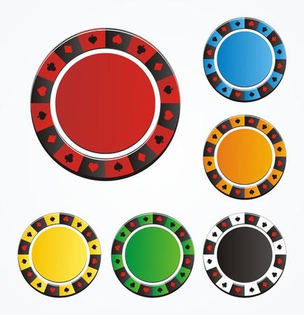 conjuntos de vectores de chip de póquer