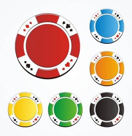 pile of coins: blank poker chips vector