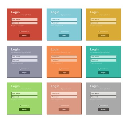 flat login form - flat UI Vector