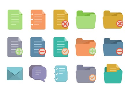 archive site: document flat icons
