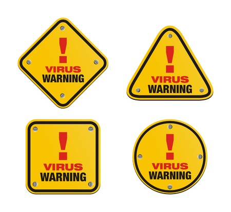 set of virus warning signs Vector