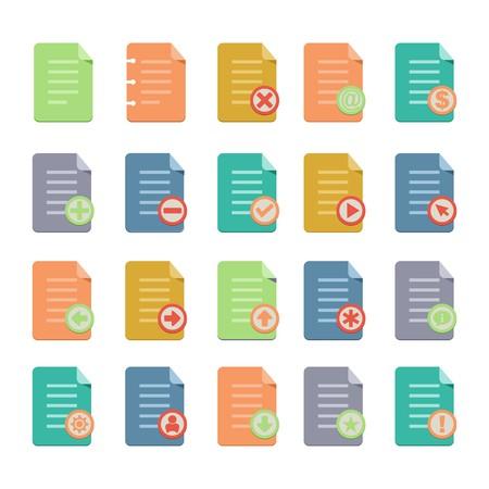 mov: document flat icon sets Illustration