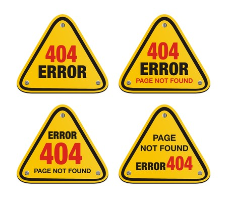 error 404 triangle signs Vector