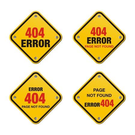 ooops: error 404 yellow signs