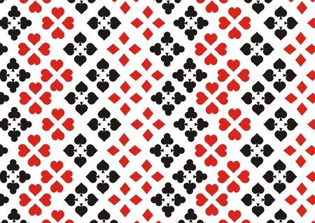 coeur diamant: carte à jouer élément de fond Illustration