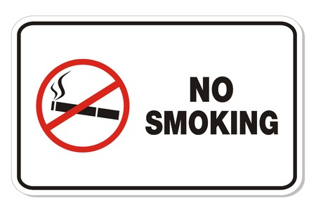no smoking - rectangle sign Vector