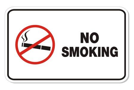 smoking kills: no smoking - rectangle sign