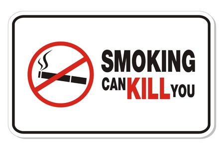 smoking can kill you - rectangle sign Vector