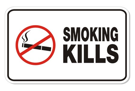 smoking kills - rectangle signs Vector