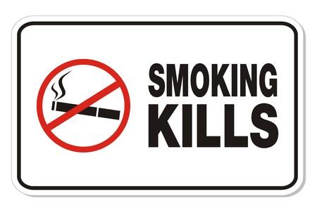 smoking kills: smoking kills - rectangle signs