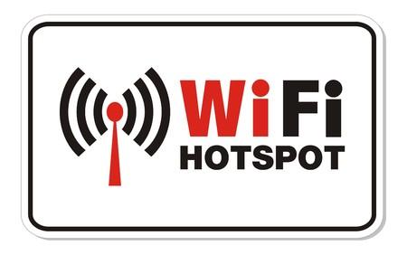 point chaud: Hotspot WiFi signe de rectangle Illustration