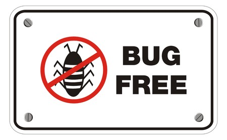bug free rectangle sign Stock Vector - 22390418
