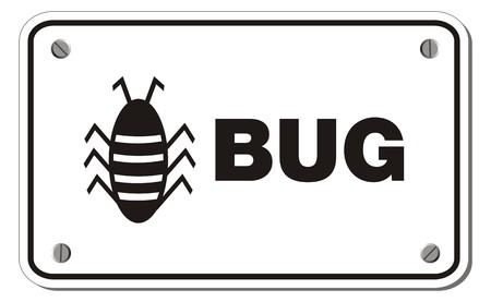 bug rectangle sign Stock Vector - 22390420