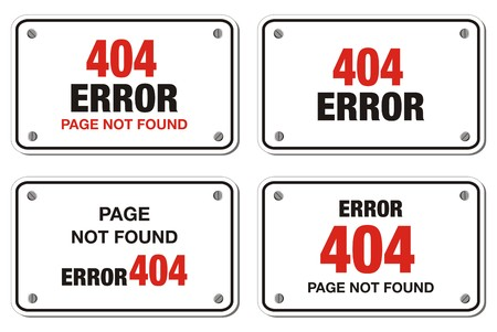 ooops: 404 error rectangle sign Illustration