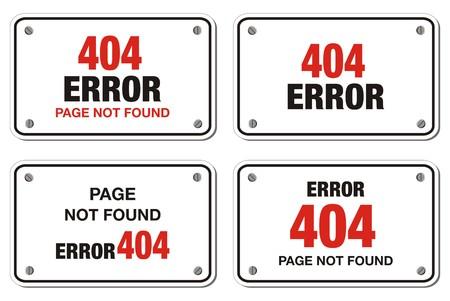 ooops: 404 error rectangle sign Illustration