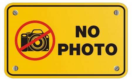 no photo yellow sign - rectangle sign Vector