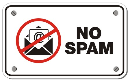 spam: no spam rectangle sign