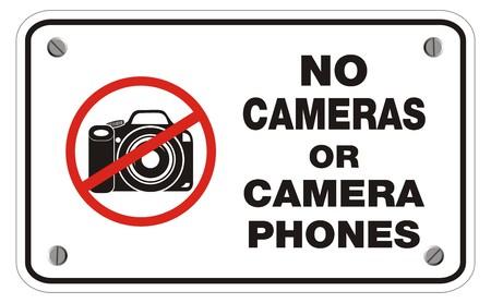 interdiction telephone: pas de cam�ras ou t�l�phones appareil photo signe de rectangle