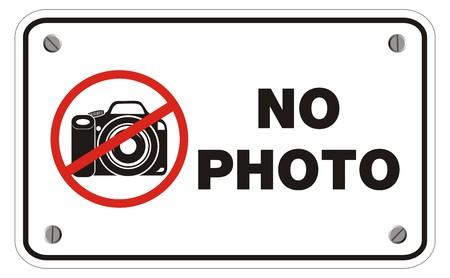no photo rectangle sign
