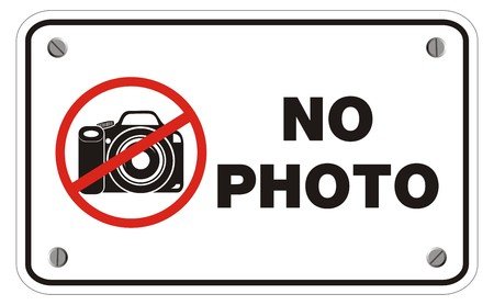 no photo: no photo rectangle sign