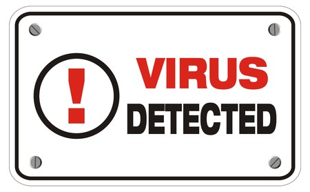 virus detected rectangle sign Stock Vector - 22466395