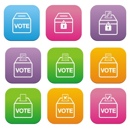 election flat style icons Stock Vector - 22461327