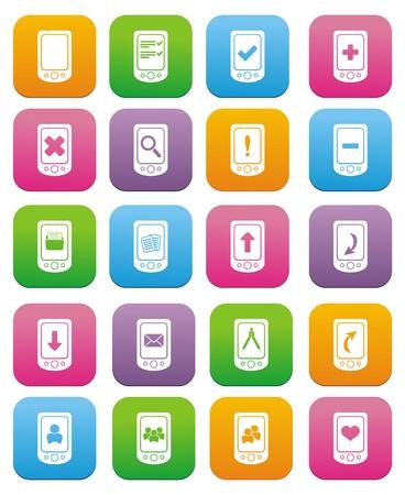 Smartphone-Icons - flach Stilikonen Standard-Bild - 22466563