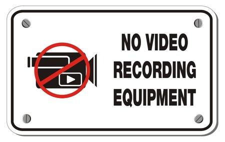 no video recording equipment rectangle sign Vector